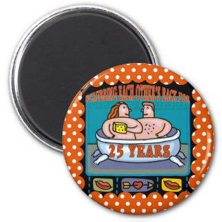 25th Wedding Anniversary Gifts 2 Inch Round Magnet
