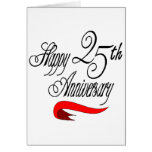 25th Wedding Anniversary Gifts Card