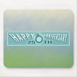 25th Wedding Anniversary Gifts Mouse Pad