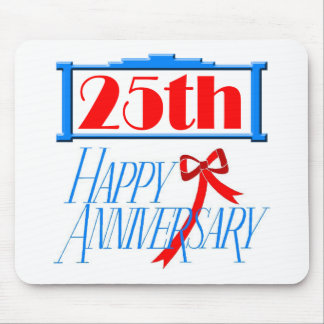 25th Wedding Anniversary Gifts Mouse Pads