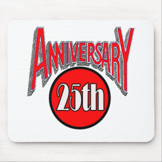 25th Wedding Anniversary Gifts Mousepads