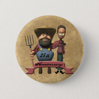 25th Wedding Anniversary Gifts Pinback Button