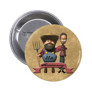25th Wedding Anniversary Gifts Pinback Button