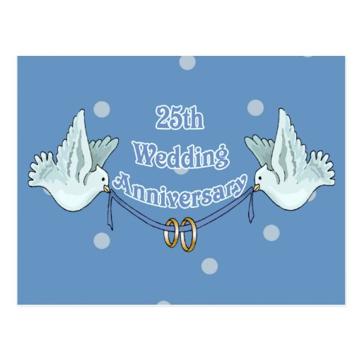 25th Wedding Anniversary Gifts Postcard Zazzle