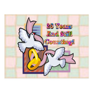 25th Wedding Anniversary Gifts Postcard