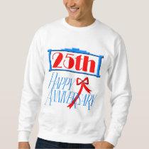 25th Wedding Anniversary Gifts Sweatshirt
