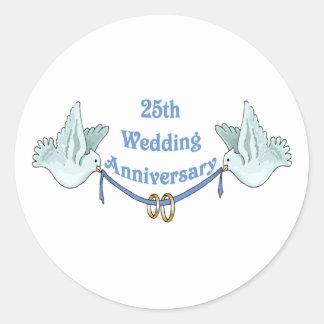 25th wedding anniversary gifts t sticker
