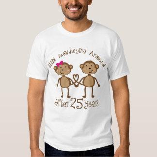 25th Wedding Anniversary Gifts Tshirts
