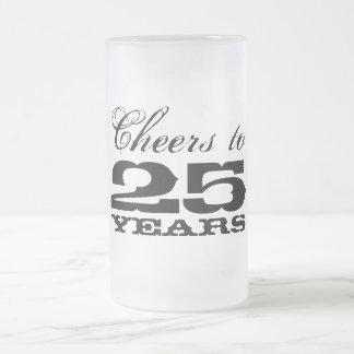 25th Wedding Anniversary Glass Beer Mug Gift