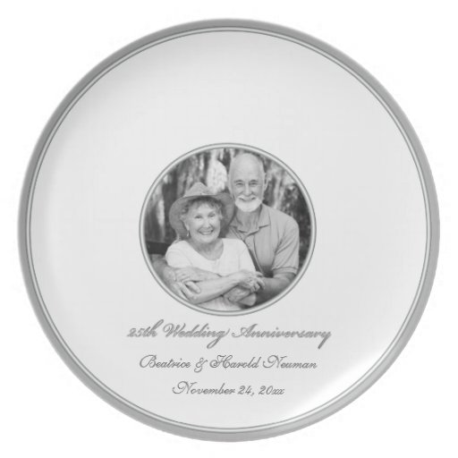 25th Wedding Anniversary Guest Signing Plate