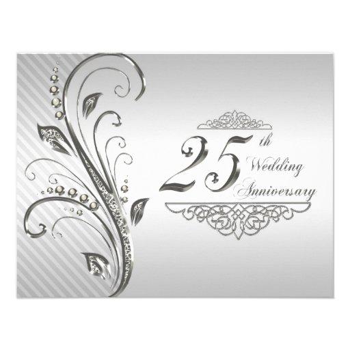 25th Wedding Anniversary Invitation from Zazzle.com