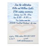 25th Wedding Anniversary 6.5x8.75 Paper Invitation Card