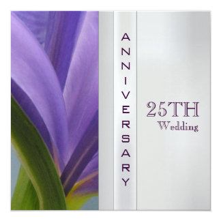 """25th Wedding Anniversary Invitation 5.25"""" Square Invitation Card"""