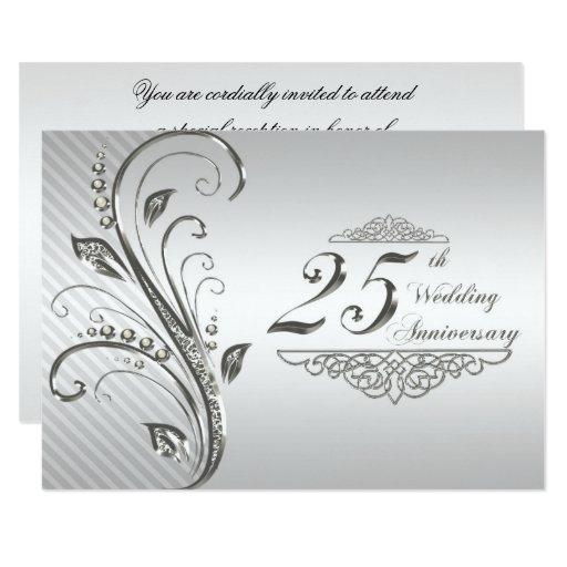25th Wedding Anniversary Gift Experiences : 25th Wedding Anniversary Invitation Zazzle