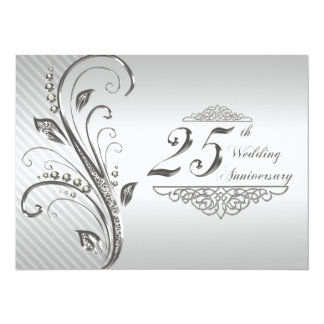 "25th Wedding anniversary Invitation 5.5"" X 7.5"" Invitation Card"