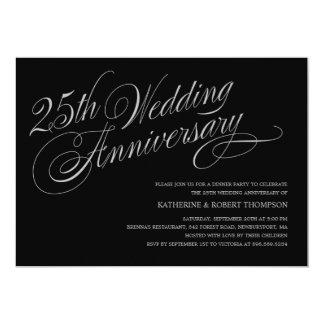 "25th Wedding Anniversary Invitations 5"" X 7"" Invitation Card"