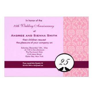 25th Wedding Anniversary Invites