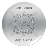 25th anniversary plates zazzle