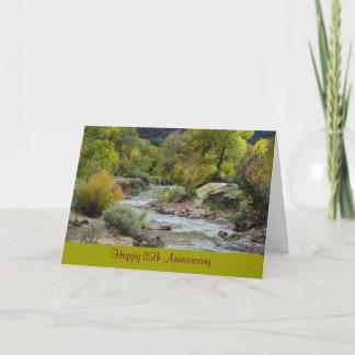 25th Wedding Anniversary Nature Greeting Card