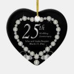 25th Wedding Anniversary Ornament Christmas Ornament