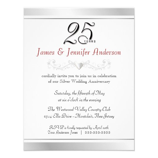 25th Anniversary Invitation Wording Futureclim Info