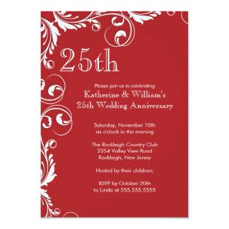 25th Wedding Anniversary Party Invitations