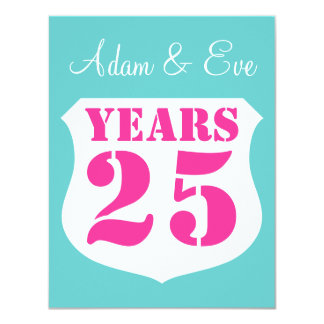 25th Wedding anniversary party invitations Modern