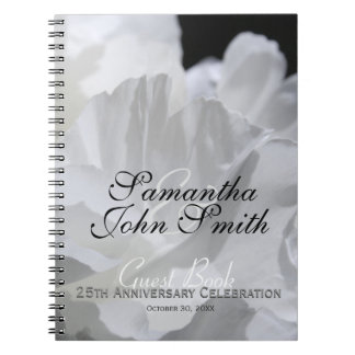 25th Wedding Anniversary Party Peony Guest Book 2a