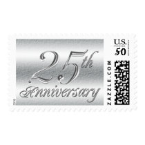 25th Wedding Anniversary Party Postage