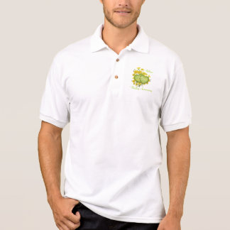 25th Wedding Anniversary Party Wildflower Hearts Polo Shirt