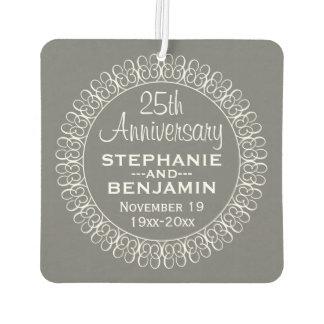 25th Wedding Anniversary Personalized Air Freshener