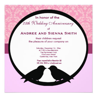 25th Wedding Anniversary Personalized Announcement