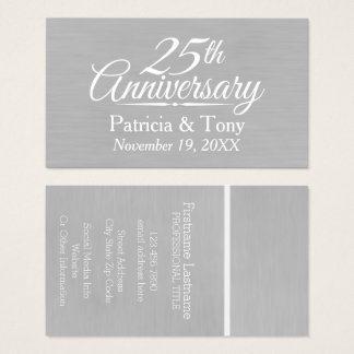 25th Wedding Anniversary Personalized Business Card