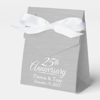 25th Wedding Anniversary Personalized Favor Box