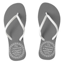 25th Wedding Anniversary Personalized Flip Flops