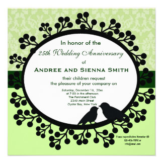 25th Wedding Anniversary Personalized Invitation