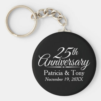 25th Wedding Anniversary Personalized Keychain