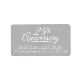25th Wedding Anniversary Personalized Label