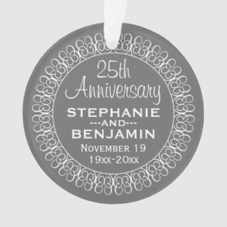 25th Wedding Anniversary Personalized Ornament