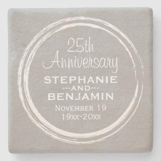 25th Wedding Anniversary Personalized Stone Coaster