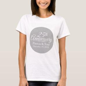 25th Wedding Anniversary Personalized T-Shirt