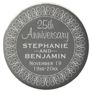 25th Wedding Anniversary Personalized Chocolate Covered Oreo