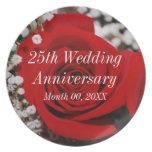25th Wedding Anniversary Plates