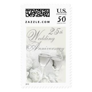 25th Wedding Anniversary Postage Stamp