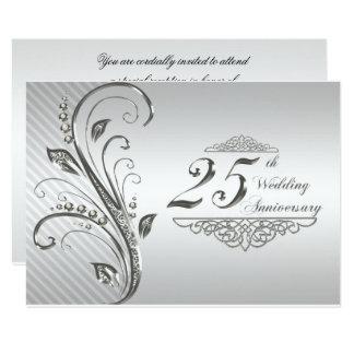 25th Wedding Anniversary RSVP Card