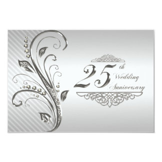 "25th Wedding Anniversary RSVP 3.5"" X 5"" Invitation Card"
