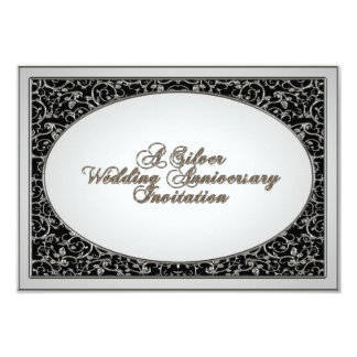 25th Wedding Anniversary RSVP Invitation Card