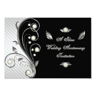 25th Wedding Anniversary RSVP Invitation Card