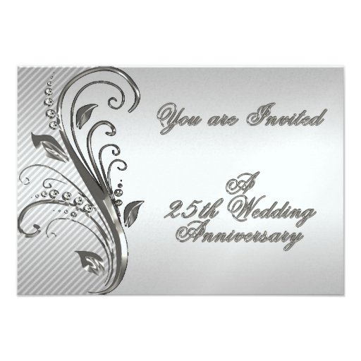 25th wedding anniversary rsvp invitation card 3 5 x 5