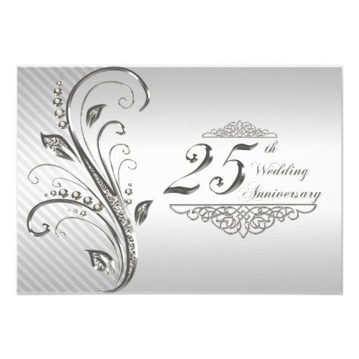 Wedding Gifts For 25th Anniversary : 25th Wedding Anniversary RSVP 3.5x5 Paper Invitation Card Zazzle